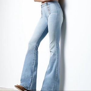 Erin Wasson Zip Front Super Flare Jeans Women's 29